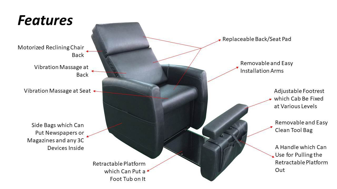pibbs lounge pedicure chair